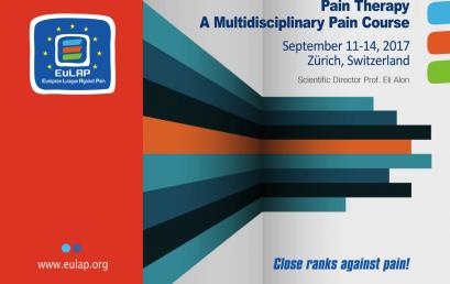 Mundësi Pjesëmarrje Në Kursin Mbi Terapinë e Dhimbjes të Organizuar nga Eulap, në Zyrih, Zvicër