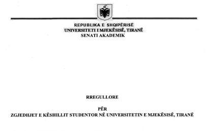 Rregullorja për zgjedhjet e KSUMT-së, e ndryshuar me Vendimin nr. 20, datë 16.03.2018, të Senatit Akademik të UMT-së