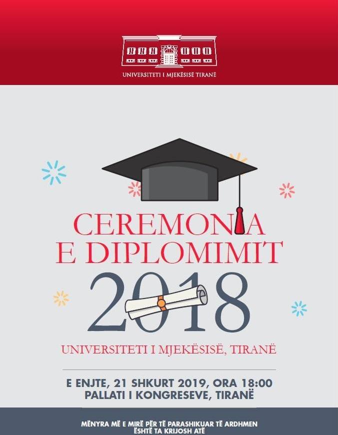 NJOFTIM LIDHUR ME CEREMONINË E DIPLOMIMIT PËR STUDENTËT E VITIT AKADEMIK 2018