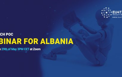Support to the EU4TECH PoC Open Call for Albania: – Invitation to a Zoom Webinar with the local mentor.