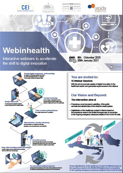 Vijoni të ndiqni webinhealth në proces akreditimi në datat 2, 4, 9, 16 dhe 22 Dhjetor 2020